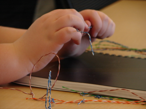 Art Lesson Wire Sculpture Part 1